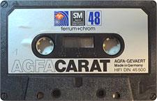 AGFA-CARAT-48_MCiPjH_121006 audio cassette tape