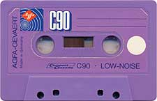 AGFA_C90_Low_Nose_Violet_071130 audio cassette tape
