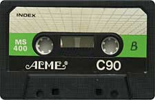 Acme audio cassette tape