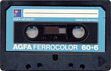 Agfa_Ferrocolor_60%2B6_Albastra audio cassette tape