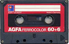 Agfa_Ferrocolor_60%2B6_Rosie audio cassette tape
