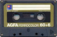 Agfa_Ferrocolor_60%2B6_oliv audio cassette tape