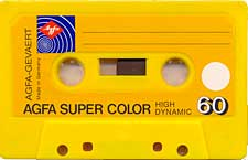 Agfa_Galbena audio cassette tape