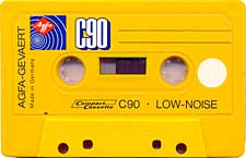 Agfa_Galbena_90 audio cassette tape