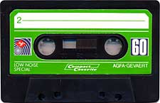 Agfa_Verde audio cassette tape