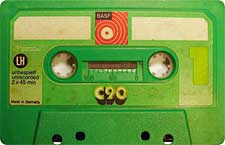 BASF_C90_green_111227 audio cassette tape