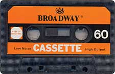 Broadway_071130 audio cassette tape