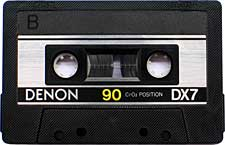 Denon_X7_Cr2O2 audio cassette tape