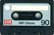 ICM_Chrome_C-90 audio cassette tape