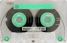 MAXELL-UR-F-60-23-04-2011 audio cassette tape