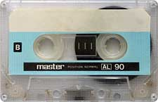 Master audio cassette tape