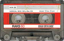 Raks60_High_Dynamic audio cassette tape
