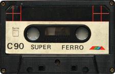 Super audio cassette tape