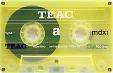 TEAC_mdx1_100_yellow_111227 audio cassette tape