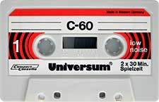 UNIVERSUM-C60-23-04-2011 audio cassette tape