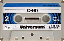 UNIVERSUM-C90-23-04-2011 audio cassette tape