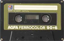 agfa_ferrocolor_90+6_oliv_080417 audio cassette tape