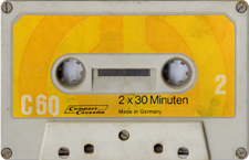 cc_gelb_60 audio cassette tape