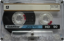 goldstar_hd90clear audio cassette tape