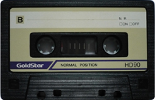 goldstar_hd90old audio cassette tape