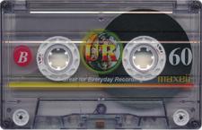 maxellur audio cassette tape
