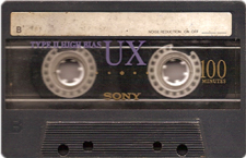 sony100 audio cassette tape