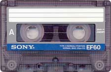 sony_ef60_071201 audio cassette tape