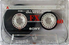 sony_fx60_071126 audio cassette tape
