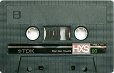tdkhxs audio cassette tape
