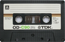 tdkod audio cassette tape